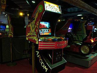 Street Fighter - A Street Fighter arcade cabinet