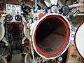 Submarine Monument Surabaya forward torpedo tube.JPG