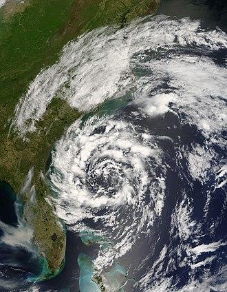 2007 Atlantic hurricane season - Image: Subtropical Storm Andrea (2007)