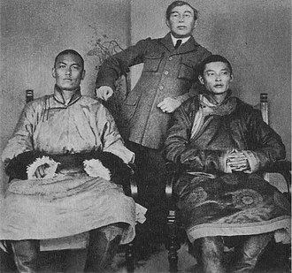 Khorloogiin Choibalsan - Sükhbaatar (left) with Choibalsan in the early 1920s