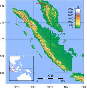 Topographie de Sumatra