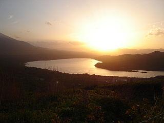 lake in Yamanakako, Chūbu region, Japan