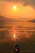Sunset over Phewa Lake 2.jpg