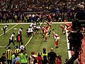 Super Bowl XLVII - Ravens line up at 4-yard line.jpg