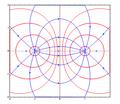 Superfícies equipotenciais e linhas de campo de um dipólo elétrico..png