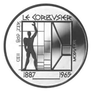 Modulor - Commemorative Swiss coin showing the modulor.