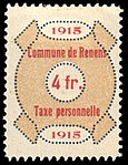 Switzerland Renens 1915 revenue 6 4Fr - 38.jpg