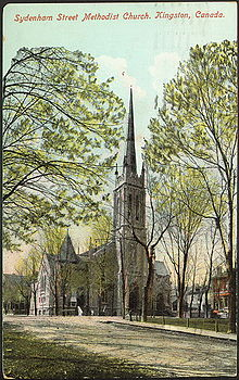 Sydenham Street Methodist Church, Kingston, Canada 1910.jpg