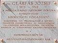 Széchenyi István University, plaque of József Gyárfás, 2017 Mosonmagyaróvár.jpg