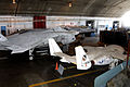 T-46, X-32 and YF-23 in the restoration area of the National Museum of the USAF.jpg