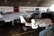 T-46, X-32 and YF-23 in the restoration area of the National Museum of the USAF