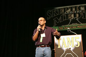 Peter Sagal - Sagal speaking at The Amaz!ng Meeting (TAM 5 - 2007) at the Riviera Casino in Winchester, Nevada