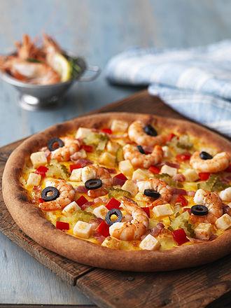 Mr. Pizza - A shrimp pizza at Mr. Pizza