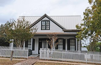 National Register of Historic Places listings in Burleson County, Texas - Image: THOMAS AND MARY KRAITCHAR JR HOUSE, CALDWELL, BURLESON COUNTY, TX