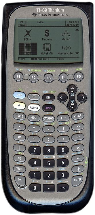 Graphing calculator - TI-89 Titanium, capable of doing Symbolic Manipulation, Computer Algebra System (CAS)