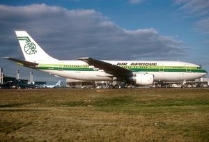 Air Afrique - An Airbus A300B4-200 at Charles de Gaulle Airport. (1992)