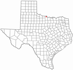 Location of Petrolia, Texas