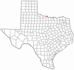 Location of Petrolia, Texas