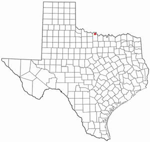 Petrolia, Texas - Image: TX Map doton Petrolia