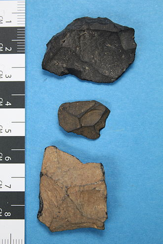 Tachylite - Flaked stone artefacts from Australia, made of tachylite