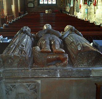 Gilbert Talbot (soldier) - Tomb of Sir Gilbert Talbot's son  John and his wives in St John the Baptist Church, Bromsgrove.