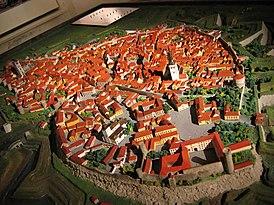 Макет Старого города в Таллинском городском музее