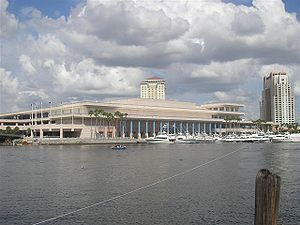 English: Tampa Convention Center, taken across...