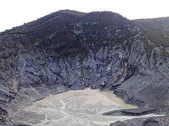 Tangkuban Perahu - The biggest crater, Kawah Ratu or Queen's Crater of Mount Tangkuban Perahu, Bandung, West Java.