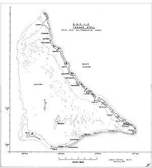 Battle of Tarawa - Map of Tarawa Atoll