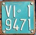 Targa automobilistica Italia 1985 VI•1 9471 agricoltura.jpg