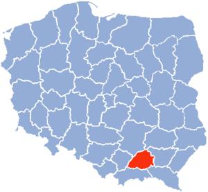 Tarnów Voivodeship - Image: Tarnow Voivodship 1975
