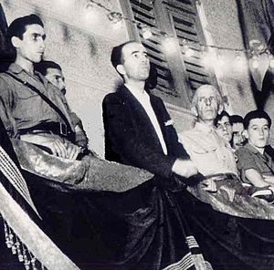 Paolo Emilio Taviani - Taviani during a speech in Genoa, 1945.