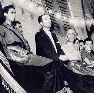 Comizio di Taviani a Genova, 27 aprile 1945