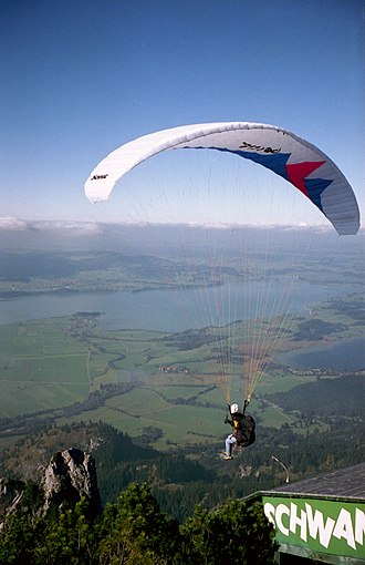 Dihedral (aeronautics) - The CG of a paraglider is very low, making a strong contribution to dihedral effect
