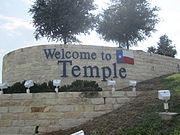 Temple, TX, welcome sign IMG 0665