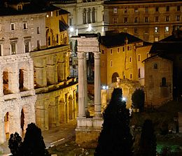 Temple of Apollo Sosianus at Night.jpg