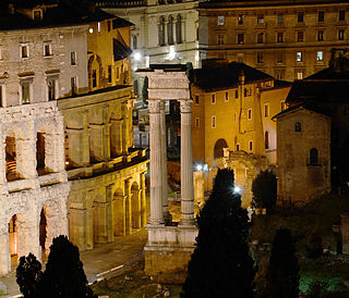 Temple of Apollo Sosianus building in SantAngelo, Italy
