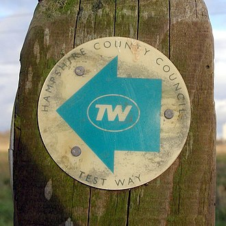 Test Way - A waymarker on the Test Way