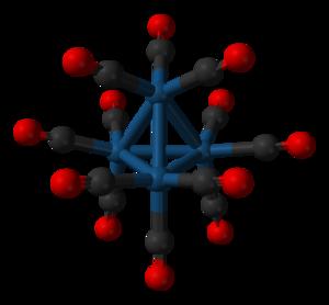 Tetrairidium dodecacarbonyl - Image: Tetrairidium dodecacarbonyl from xtal 3D balls