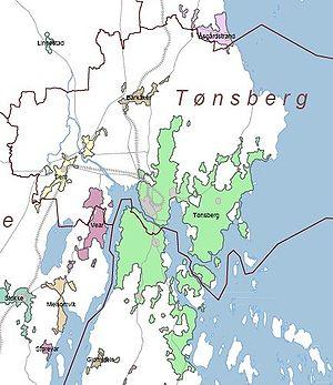 kart over tønsberg kommune Tønsberg (tettsted) – Wikipedia kart over tønsberg kommune