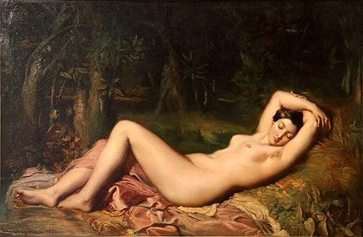 Théodore Chassériau-baigneuse endormie