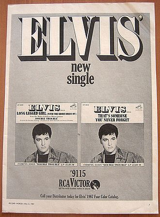 Long Legged Girl (With the Short Dress On) - 1967 RCA Victor promo ad for the 45 single release of the song.