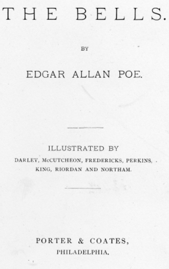 "The Bells (poem) - Title page for publication of ""The Bells"" circa 1881."