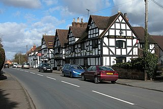 Ombersley village in United Kingdom