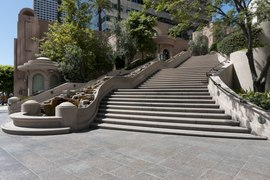 The Bunker Hill Steps linking Hope Street to Fifth Street in Los Angeles, California