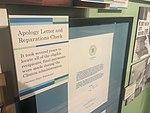 The CA Museum Japanese Internment Exhibit Bush Apology Letter.jpg