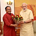 The Chief Minister of Goa, Shri Laxmikant Parsekar calls on the Prime Minister, Shri Narendra Modi, in New Delhi on June 14, 2016.jpg