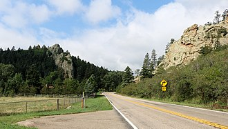 Colorado State Highway 12 - SH 12 looking at The Gap just north of Cuchara