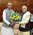 The Governor of Himachal Pradesh, Shri Acharya Dev Vrat calls on the Prime Minister, Shri Narendra Modi, in New Delhi on December 11, 2015.jpg