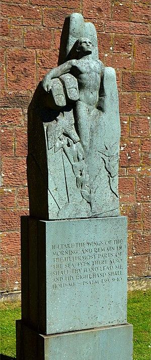 Josefina de Vasconcellos - The Hand by Josephina de Vasconcellos, War Memorial Hall, St Bees School.